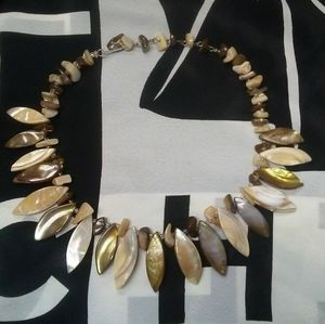 Extravagant Vintage Japanese Runway Shell Necklace